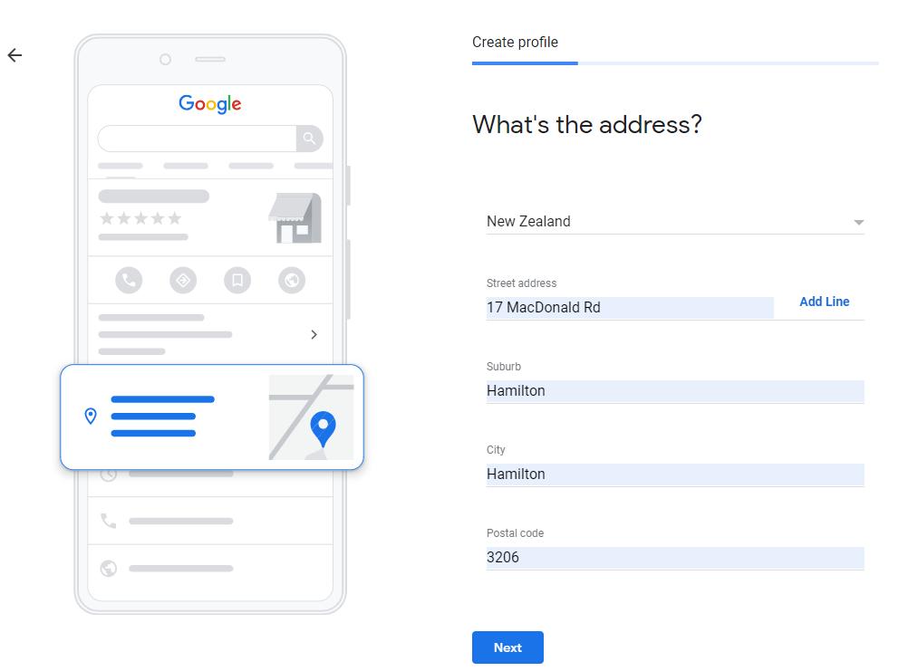 Google My Business Address
